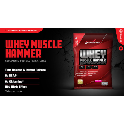 Whey Muscle Hammer Refil 1800g - Body Action