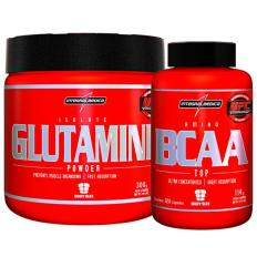 Kit Glutamine 300g + Bcaa Top 120 Cápsulas - Integralmédica