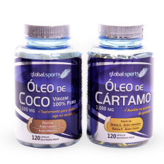 Kit Óleo de Coco 120 Softgels + Óleo de Cartamo 120 Softgels - Global Sports