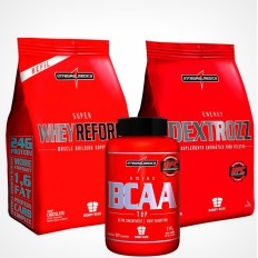 Kit Super Whey Reforce 907g + Bcaa Top 120 Cáps + Energy Dextrozz 1kg