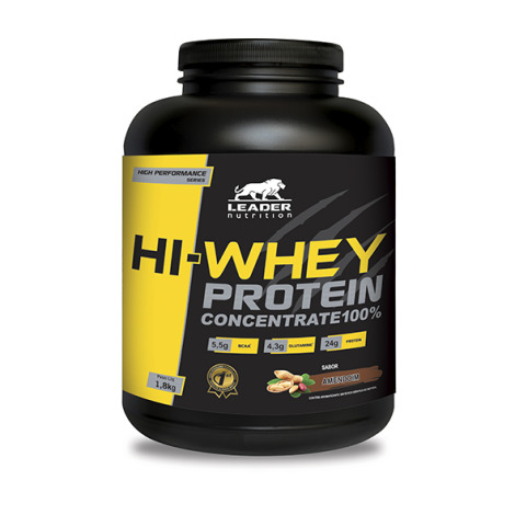 Hi-Whey Protein Concentrate 100% Pote 1,8kg - Leader Nutrition