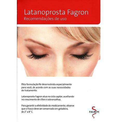 Gel Creme de Latanoprosta 0,005% para Cílios e Sobrancelhas - Aplicador 5g - Fagron